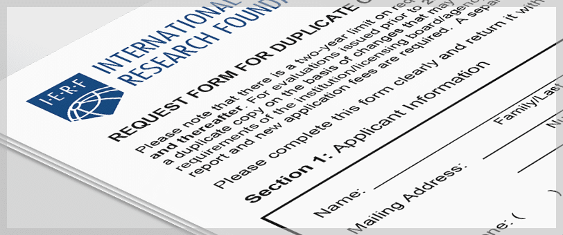Order A Duplicate Copy / Revised Report